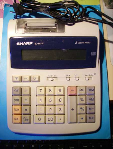 Photo ads/537000/537803/a537803.jpg : CALCULATRICE DE BUREAU « Sharp »
