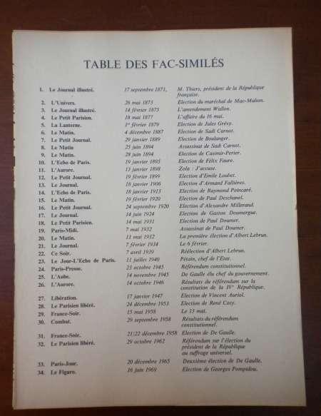 Photo ads/843000/843317/a843317.jpg : LA REPUBLIQUE A LA UNE : 34 fac-similés de journau